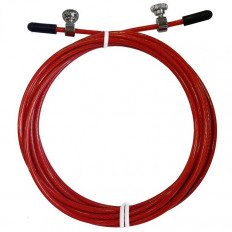 Wymienna stalowa linka do skakanki THORN+FIT (czerwona)