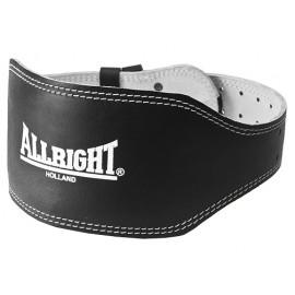 Pas kulturystyczny skórzany szeroki Allright (czarny)