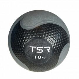Piłka lekarska FITNESS PREMIUM 10 kg TSR (czarna)