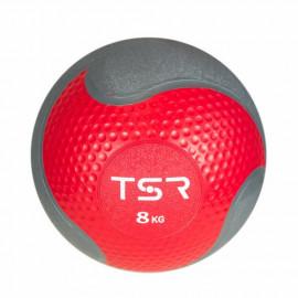 Piłka lekarska FITNESS PREMIUM 8 kg TSR (malinowa)