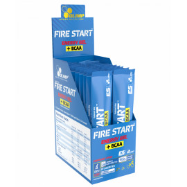 Olimp - FIRE START ENERGY GEL + BCAA - display 20 żeli x 36 g (pomarańcza)