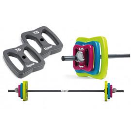 Sztanga power gym butterfly PU + obciążenia 2x 7,5 kg tiguar